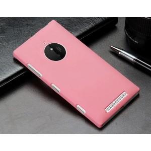 Пластиковый матовый металлик чехол для Nokia Lumia 830 Розовый