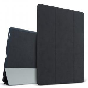 Сегментарный винтажный чехол книжка подставка на непрозрачной поликарбонатной основе для Ipad (2017)/Ipad (2018) Черный