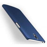 Пластиковый матовый непрозрачный чехол для OnePlus One Синий