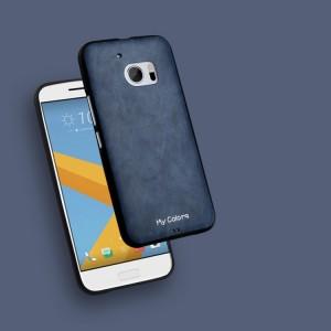 Силиконовый матовый непрозрачный дизайнерский фигурный чехол с текстурным покрытием Кожа для HTC 10