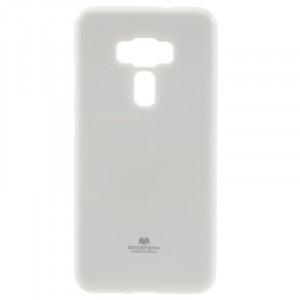 Силиконовый глянцевый непрозрачный чехол для Asus ZenFone 3 5.5 Белый