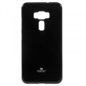 Силиконовый глянцевый непрозрачный чехол для Asus ZenFone 3 5.5 Черный