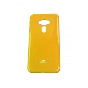 Силиконовый глянцевый непрозрачный чехол для Asus ZenFone 3 5.5 Желтый