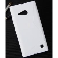 Силиконовый S чехол для Nokia Lumia 730/735 Белый