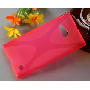Силиконовый X чехол для Nokia Lumia 730/735 Пурпурный