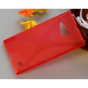 Силиконовый X чехол для Nokia Lumia 730/735 Красный