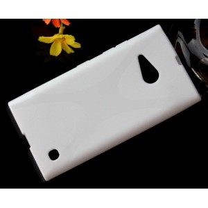 Силиконовый X чехол для Nokia Lumia 730/735 Белый