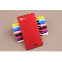 Пластиковый матовый непрозрачный чехол для Sony Xperia E3 dual Красный