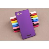 Пластиковый матовый непрозрачный чехол для Sony Xperia E3 dual Фиолетовый