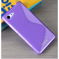 Силиконовый S чехол для Sony Xperia E3 dual Фиолетовый