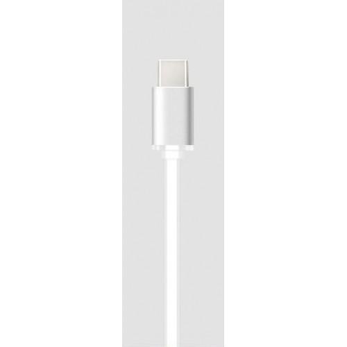 Сверхпрочный силиконовый антизапутывающийся кабель плоского сечения USB 3.1 type-C 1 м Зеленый