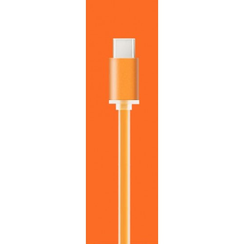 Сверхпрочный силиконовый антизапутывающийся кабель плоского сечения USB 3.1 type-C 1 м Синий