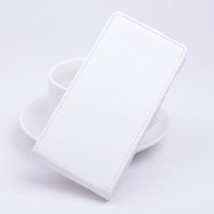 Чехол вертикальная книжка на клеевой основе на магнитной защелке для Highscreen Power Five EVO Белый