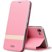 Чехол горизонтальная книжка подставка текстура Линии на силиконовой основе для Meizu U10 Розовый