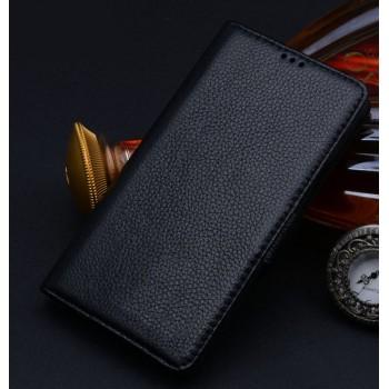 Кожаный чехол портмоне (нат. кожа) с крепежной застежкой для Nokia Lumia 830