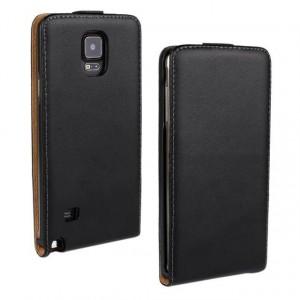 Чехол вертикальная книжка на пластиковой основе на магнитной защелке для Samsung Galaxy Note 4 Черный