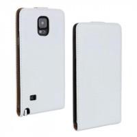 Чехол вертикальная книжка на пластиковой основе на магнитной защелке для Samsung Galaxy Note 4 Белый