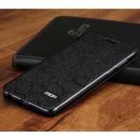Чехол горизонтальная книжка подставка текстура Соты на силиконовой основе для Huawei Honor 9 Черный