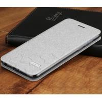 Чехол горизонтальная книжка подставка текстура Соты на силиконовой основе для Huawei Honor 9 Белый