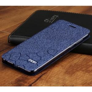 Чехол горизонтальная книжка подставка текстура Соты на силиконовой основе для Huawei Honor 9