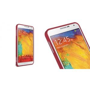 Металлический бампер для Samsung Galaxy Note 4 Красный