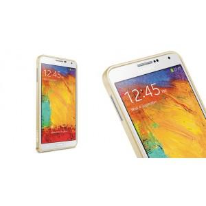 Металлический бампер для Samsung Galaxy Note 4 Серый