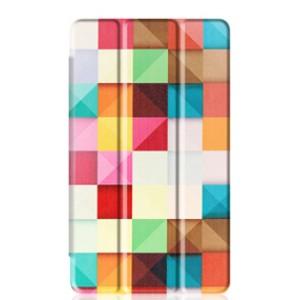 Сегментарный чехол книжка подставка на непрозрачной поликарбонатной основе с полноповерхностным принтом для Huawei MediaPad T3 10