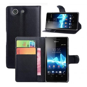 Чехол портмоне подставка с защелкой для Sony Xperia Z3 Compact