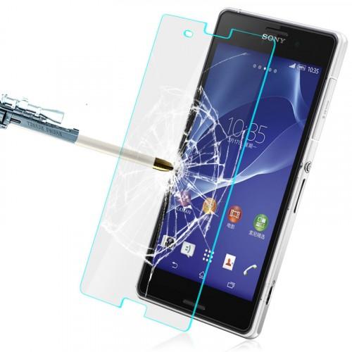 Ультратонкое износоустойчивое сколостойкое олеофобное защитное стекло-пленка Sony Xperia Z3