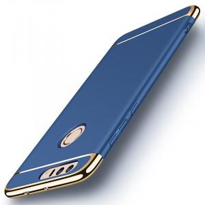 Пластиковый непрозрачный матовый сборный чехол с улучшенной защитой элементов корпуса для Huawei Honor 8 Синий