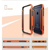 Бампер силикон-пластик повышенной защиты для Iphone 6 Оранжевый