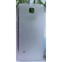 Силиконовый матовый полупрозрачный чехол для LG K3 Белый