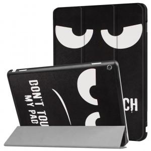 Сегментарный чехол книжка подставка на непрозрачной поликарбонатной основе с полноповерхностным принтом для Huawei MediaPad M3 Lite 10
