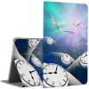 Чехол книжка подставка на непрозрачной поликарбонатной основе с полноповерхностным принтом для Huawei MediaPad M3 Lite 10