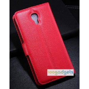 Чехол портмоне подставка с защелкой для Alcatel One Touch Idol 2 S Красный