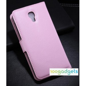 Чехол портмоне подставка с защелкой для Alcatel One Touch Idol 2 S Розовый