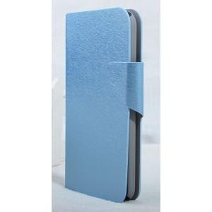 Текстурный чехол флип подставка с застежкой и внутренними карманами для Alcatel One Touch Idol 2 S