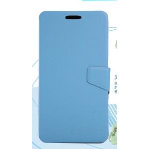 Чехол портмоне подставка с защелкой для Fly IQ4501 EVO Energie 4 Quad Голубой