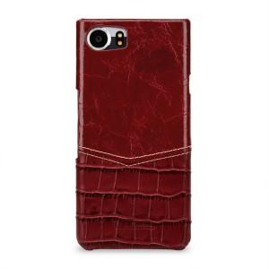 Кожаный чехол накладка (премиум нат. кожа) для BlackBerry KEYone