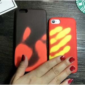 Эксклюзивный термосенсорный силиконовый матовый непрозрачный чехол для Iphone 6/6s
