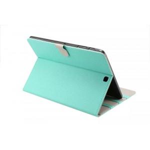 Чехол книжка подставка на поликарбонатной основе с магнитной защелкой для Samsung Galaxy Tab S2 8.0 Зеленый