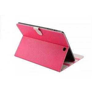 Чехол книжка подставка на поликарбонатной основе с магнитной защелкой для Samsung Galaxy Tab S2 8.0 Пурпурный