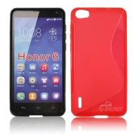 Силиконовый S чехол для Huawei Honor 6 Красный