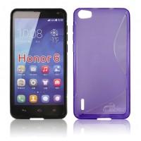 Силиконовый S чехол для Huawei Honor 6 Фиолетовый