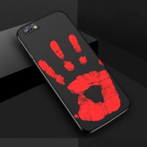 Эксклюзивный термосенсорный силиконовый матовый непрозрачный чехол для Iphone 5/5s/SE Черный