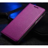 Кожаный чехол флип-подставка Чехол для Huawei Honor 6 Фиолетовый