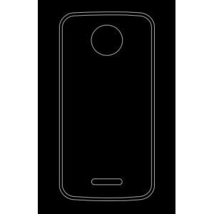 Силиконовый глянцевый транспарентный чехол для Motorola Moto C