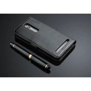 Чехол портмоне подставка с защелкой для Asus Zenfone 2 Черный
