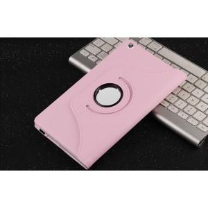 Роторный чехол книжка подставка на непрозрачной поликарбонатной основе с поддержкой кисти для Huawei MediaPad M3 Lite 8 Розовый