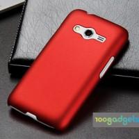 Пластиковый матовый чехол серия Metallic для Samsung Galaxy Ace 4 Красный